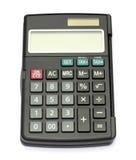 Zwarte calculator Stock Afbeelding