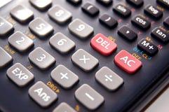 Zwarte calculator Stock Afbeeldingen