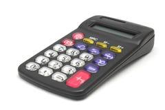 Zwarte calculator die op wit wordt geïsoleerdt Royalty-vrije Stock Afbeeldingen