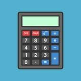 Zwarte calculator op blauw Stock Illustratie