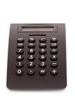 Zwarte calculator voor belastingstijd Royalty-vrije Stock Fotografie