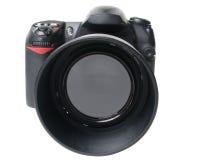 Zwarte cameravoorzijde Royalty-vrije Stock Foto's