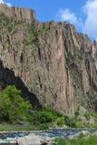 Zwarte Canion van Gunnison Royalty-vrije Stock Afbeeldingen
