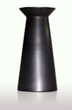 Zwarte ceramische vaas Stock Afbeelding