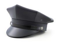 Zwarte chauffeurhoed Stock Afbeelding