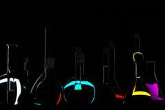 Zwarte chemie Stock Foto's