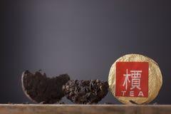 Zwarte Chinese thee puer stock afbeeldingen