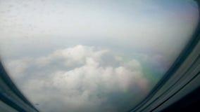 Zwarte chmury zobacz? od i samolotowy okno zdjęcie wideo