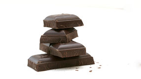 Zwarte chocolade Stock Foto's