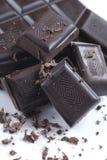 Zwarte chocolade Royalty-vrije Stock Afbeeldingen
