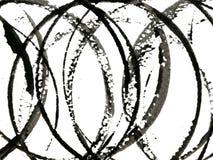 Zwarte cirkels Royalty-vrije Stock Afbeelding