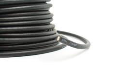 Zwarte coaxiale kabel stock foto