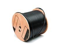 Zwarte coaxiale kabel royalty-vrije stock afbeelding