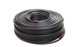 Zwarte coaxiale kabel royalty-vrije stock fotografie