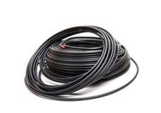 Zwarte coaxiale kabel royalty-vrije stock foto's