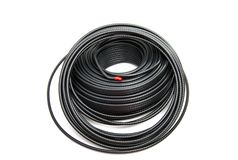 Zwarte coaxiale kabel stock foto's