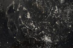 Zwarte concrete textuur, donkere randen Stock Foto