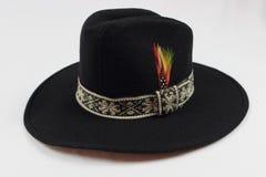 Zwarte cowboyhoed Stock Foto's