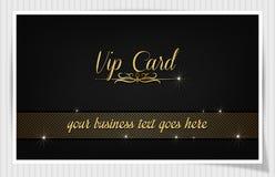 Zwarte creatieve vip kaart Royalty-vrije Stock Foto