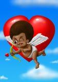 Zwarte Cupido Stock Afbeelding