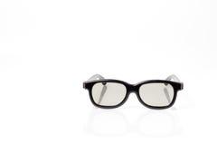 Zwarte 3d plastic glazen met plastic lens Royalty-vrije Stock Afbeelding
