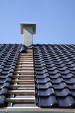 Zwarte dakwerktegels. Royalty-vrije Stock Foto's