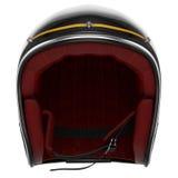 Zwarte de koolstofvoorzijde van de motorfietshelm Royalty-vrije Stock Fotografie