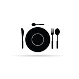 Zwarte de kunstvector van het keukenmateriaal Stock Fotografie