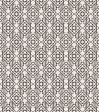 Zwarte de lijnkleur van het art deco geometrische naadloze patroon op witte achtergrond voor groetkaart Royalty-vrije Stock Foto