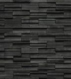 Zwarte de textuurachtergrond van de bakstenenlei, de muurtextuur van de leisteen Royalty-vrije Stock Afbeeldingen