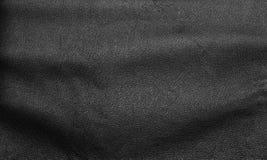 Zwarte de textuurachtergrond van het luxeleer Royalty-vrije Stock Foto