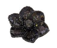 Zwarte decoratieve bloem die op wit wordt geïsoleerd, Royalty-vrije Stock Fotografie