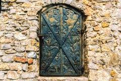 Zwarte deur royalty-vrije stock afbeeldingen