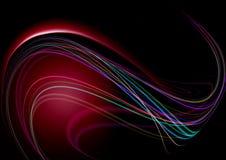 Zwarte die achtergrond met rood terug met stroken wordt aangestoken Royalty-vrije Stock Afbeelding
