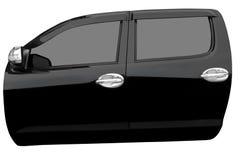 Zwarte die autodeur op witte achtergrond met klemweg wordt geïsoleerd Royalty-vrije Stock Afbeeldingen