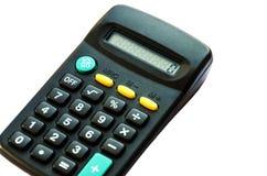 Zwarte die calculator op witte achtergrond wordt geïsoleerd royalty-vrije stock afbeeldingen