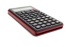 Zwarte die calculator op witte achtergrond wordt geïsoleerd Stock Afbeelding