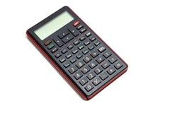 Zwarte die calculator op witte achtergrond wordt geïsoleerd Royalty-vrije Stock Afbeelding