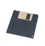Zwarte die Floppy disk op wit wordt geïsoleerd Royalty-vrije Stock Foto's