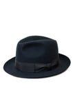 Zwarte die hoed voor de mens op witte achtergrond wordt geïsoleerd Stock Fotografie
