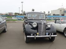 Zwarte die kleur Austin 12 in Chorrillos, Lima wordt tentoongesteld Royalty-vrije Stock Foto