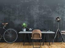 Zwarte die ruimte in uitstekende stijl wordt verfraaid Stock Afbeelding