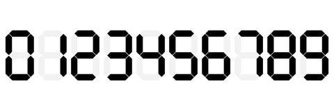 zwarte digitale Arabische die cijfers en aantallen op wit voor Web en ontwerp, vectorillustratie worden geïsoleerd vector illustratie