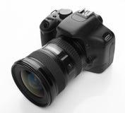 Zwarte digitale camera Royalty-vrije Stock Afbeeldingen