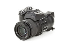 Zwarte digitale camera Royalty-vrije Stock Foto