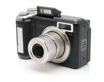 Zwarte digitale camera Royalty-vrije Stock Fotografie