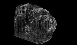 Zwarte digitale geïsoleerde camera Stock Afbeelding