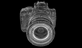 Zwarte digitale geïsoleerde camera Royalty-vrije Stock Fotografie