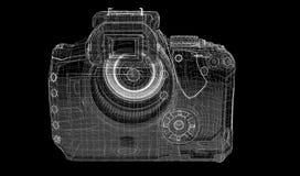 Zwarte digitale geïsoleerde camera Stock Afbeeldingen