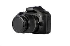 Zwarte Digitale SLR Royalty-vrije Stock Fotografie